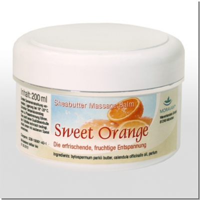 MORAVAN: Sweet Orange Sheabutter Massagebalm 200 ml