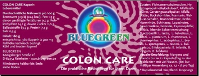 Bluegreen: Colon Care - 360 Kps. a 500 mg