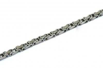 Königskette Edelstahl, silber, 5,5 mm
