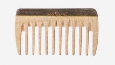 KostKamm: Mini Taschenkamm Holz 9 cm, extra grob