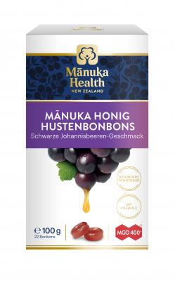 Manuka: Manuka Lutschbonbons mit MGO400+ schwarze Johannisbeere 100g