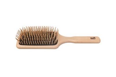 KostKamm: Holzbürste Paddle-Brush, Buche, rechteckig, 9-reihig