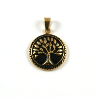 Edelstahl Anhänger Baum des Lebens, Yggdrasil