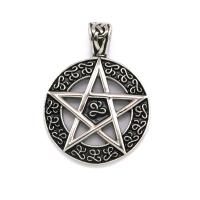 Edelstahl-Anhänger Pentagramm