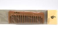 Kostkamm: Taschenkamm, Holz, breit, 14 cm