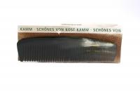 Kostkamm: Frisierkamm, Horn, mittel-fein, 15,5 cm