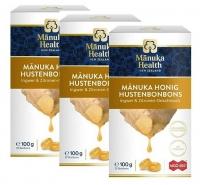 Manuka: 3 x Manuka Lutschbonbons mit MGO400+ & Ingwer-Zitrone a 100g